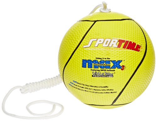 Best Review Of Sportime Max Yeller SofTouch Tetherball - Official Size and Weight - Yellow