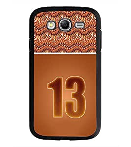 PrintDhaba Numerology Number 13 D-3646 Back Case Cover for SAMSUNG GALAXY GRAND I9082 (Multi-Coloured)