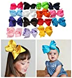 Large Boutique 5.5in Hair Bows for Teens Women Girls Baby Gifts 15pcs ⌘ Baby Accessories