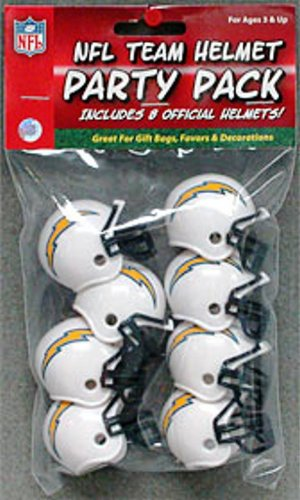 "NFL Team Mini Helmet Party Pack ""San Deigo Chargers"" - Great for Gift Bags, Favors and Decorations!"