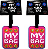 """""""my Bag"""" Floral Luggage Tags (set Of 2!)"""