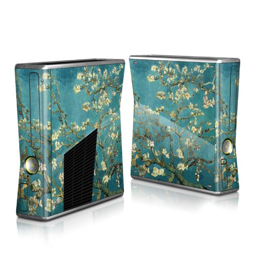 Blossoming Almond Tree Design Protector Skin Decal Sticker for Xbox 360 S Game Console Full Body