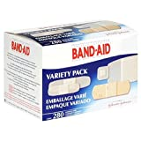 Band-Aid Brand Adhesive Bandages, Variety Pack, 280 Count