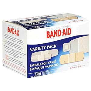 Band-Aid Brand Adhesive Bandages, Assorted Sizes, Variety Pack, 280 Count