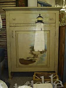 Amish Primitive Lighthouse Accent Table