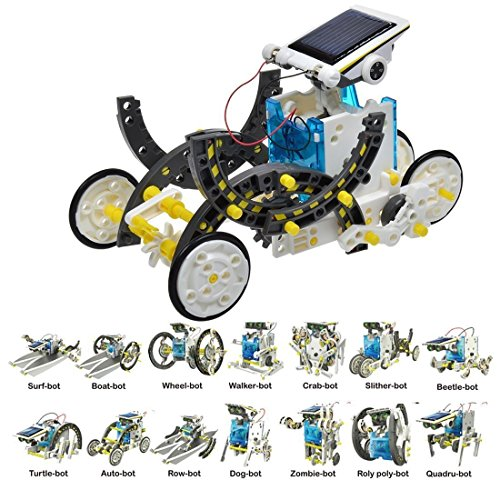14 In 1 DIY Solar Robot Kit (Robot Brain compare prices)