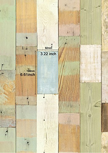 Reclaimed wood planks panel pattern contact paper self for Adhesive reclaimed wood planks