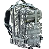 CVLIFE Outdoor Tactical Backpack Military Rucksacks for Camping Hiking and Trekking Waterproof 30L (ACU)