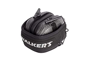 Walkers GWPRSEMCARB Razor Slim Shooter Folding Electronic Earmuff 23 dB Gray - 2 Pack (Color: Carbon Gray - 2 Pack)