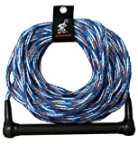Kwik Tek 1-Section Water Ski Rope with 4-Inch Finger Guards (75-Feet)