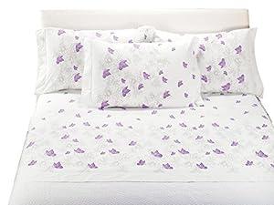 Caleffi completo lenzuola matrimoniale farfalle colore - Amazon biancheria letto ...