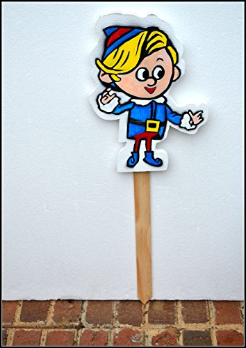 christmas-plant-poke-hermie-the-dentist-holiday-yard-sign-yard-stake-elf-plant-poke-elf-decoration