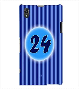 PrintDhaba Numerology Number 24 D-2582 Back Case Cover for SONY XPERIA Z1 (Multi-Coloured)