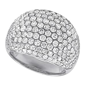 14K White Gold 3.16cttw Round Diamond Ring Band