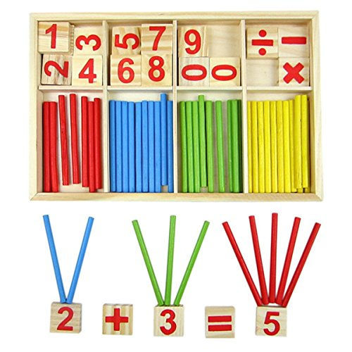 Bargain-World-Kids-Children-Wooden-Numbers-Mathematics-Early-Learning-Counting-Educational-Toy