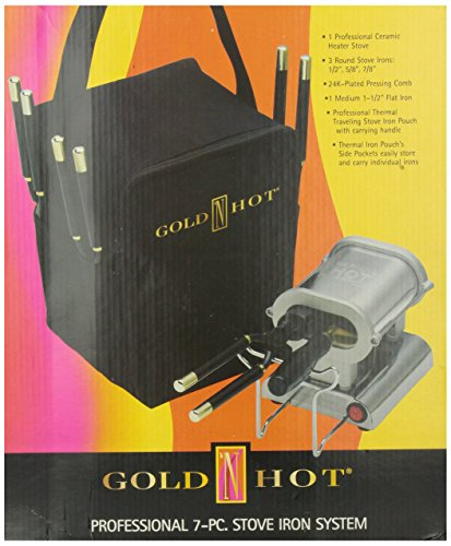 Gold N' Hot GH5249 Professional 7pc Stove Iron System (Hot Comb And Stove compare prices)