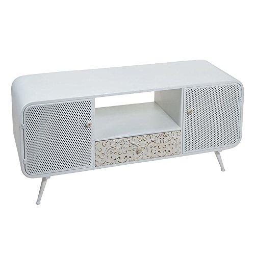 Tavolo TV Fez metallo bianco