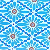 Valori Wells Floral Diamond Fabric - Blue