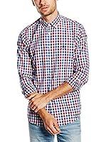 POLO CLUB Camisa Hombre Academy Sport Slim (Azul / Rojo)
