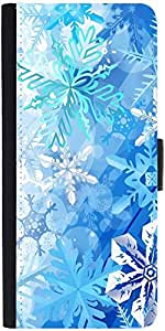 Snoogg Snowflakes Pattern 2534 Designer Protective Phone Flip Case Cover For Panasonic P55 Novo