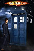 """Doctor Who - Glow In The Dark TV Show Poster (The Doctor & The Tardis) (David Tennant) (Size: 24"""" x 36"""")"""