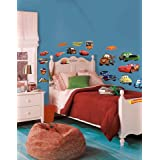 Roommates Rmk1520Scs Disney Pixar Cars Piston Cup Champs Peel & Stick Wall Decal (Color: Cup Champs, Tamaño: 8