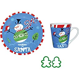 Holiday Christmas Cookies for Santa 4 Piece Set