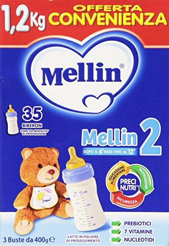 Mellin - Latte in polvere di proseguimento, dopo il 6° mese fino al 12° - 1200 g