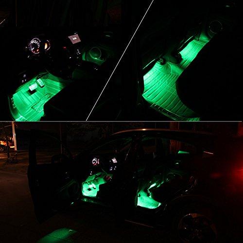 INextStation 4 Piece Car Atmosphere Light LED Interior Underdash Lighting Kit Auto Floor LightsGlowing Neon Strips Decoration Lamp