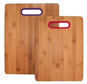 Totally Bamboo 20-1728 Colors Cutting Board Set, 2-Piece