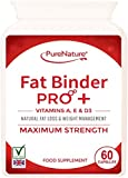60 Fat Binder Pro High Strength Vegetarian Diet Slimming Pills + Vitamins A, D and E, a Formula to help you lose weight faster than dieting alone-FREE UK Delivery