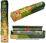 Alice in Wonderland Coffin Box Stick & Cone Incense Ashcatcher & Burner + Incense Storage Compartment, with Nose Desserts 11 inch stick incense