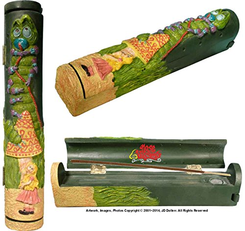 Alice in Wonderland Coffin Box Stick & Cone Incense Ashcatcher & Burner + Incense Storage Compartment, with Nose Desserts 11