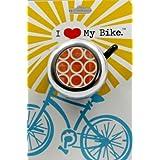 """I Like My Bike """"Orange Geometric"""" Bike Bell"""