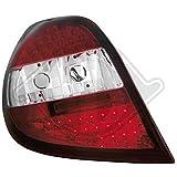 LED R�ckleuchten Set Renault BJ 05-09 Clio Klarglas / Rot / Chrome