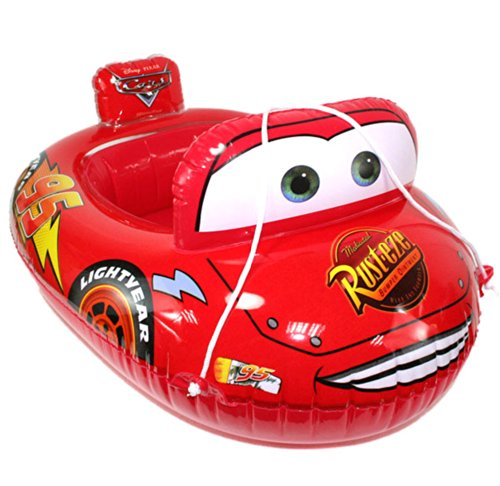 Inflatable Disney Car Lightning Mcqueen Baby Infant Kid Toddler Child Newborn Boy Girl Swim Swimming Pool Boat Ring Raft Float Tube Seat Safety Aid Trainer front-5705