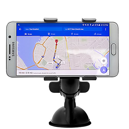 Affordable Car Mount,Adjustable Universal Windshield Cell Phone Holder with Strong Suction Cup and X Clamp for iPhone 6 Plus/6 5 4 Samsung Galaxy S6 Edge/s6 S5 S4 S3 Note Nexus Etc