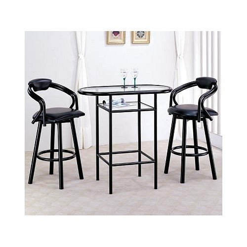 Cheap NEW GLASS TOP BAR TABLE W. 2 SWIVEL BARSTOOLS (VF_AZ00-13948×19170)