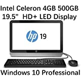 "2016 HP Slim 19.5"" All in One Desktop Computer (Intel Celeron 2.41 GHz Processor, 4GB DDR3 RAM, 500GB HDD, DVD+/-RW, 19.5 Inch HD+ Backlit Display, WiFi, Windows 10 Pro) (Certified Refurbished)"