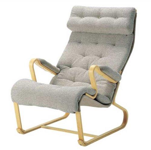 ハイバック安楽椅子 ブルーノ・マットソン 天童木工 ダークブラウン