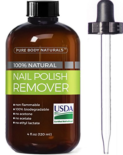 Pure Body Naturals Nail Polish Remover, 4 oz Review