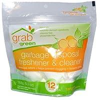 GrabGreen Garbage Disposal Freshener and Cleaner Tangerine with Lemongrass -- 12 Pods