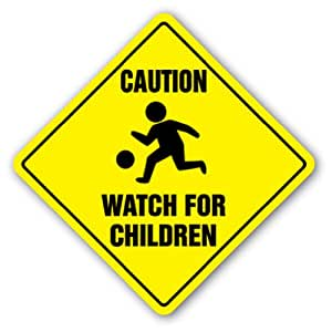 Amazon.com : CAUTION WATCH FOR CHILDREN Sign Signs slow ...
