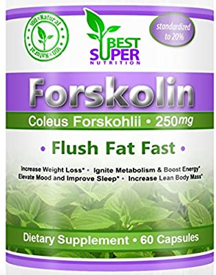 Forskolin. Belly Fat Burner - Weight Loss Pills Mentioned by America's Favorite Dr - 100% Money Back Guarantee! Standardized to 20%. 250mg Supplements - Carb Blocker - All Natural Mood Enhancer & Appetite Suppressant - No Jitters - Pure Coleus Forskohlii