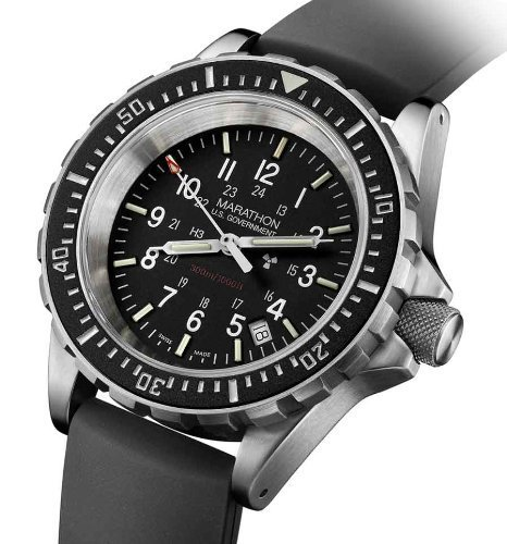Marathon Watch; Military Divers Quartz Wristwatch with Tritium and MaraGlo