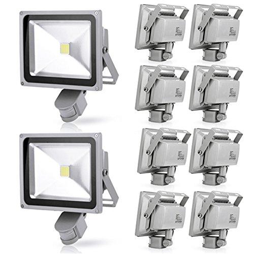Generic 10Pcs 30W Cool White Led Induction Lamp Pir Motion Sensor Ip65 Outdoor Floodlight 85-265V