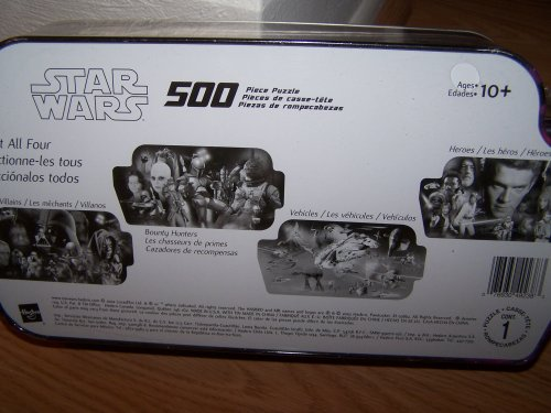 Star Wars collectible BOUNTY HUNTERS 500 piece Puzzle in collector tin