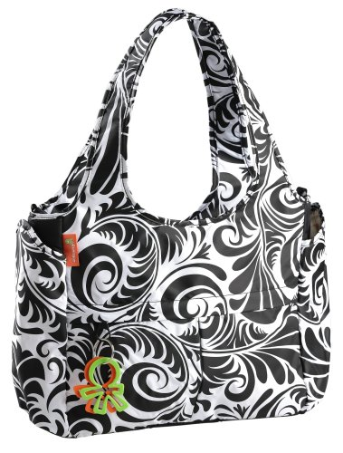 Okiedog Equinox Celeb Tote Luxury Baby Changing Bag (Black/White)