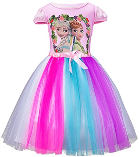 CherWow® Children Girls Cartoon Princess Frozen Cosplay Outfit Fancy Dress