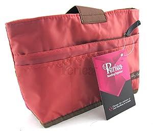 Periea - Sac de rangement/Pochette/Organisateur intérieur pour sac à main , 10 Grand poches 28x16.5x7cm - Tolla rose